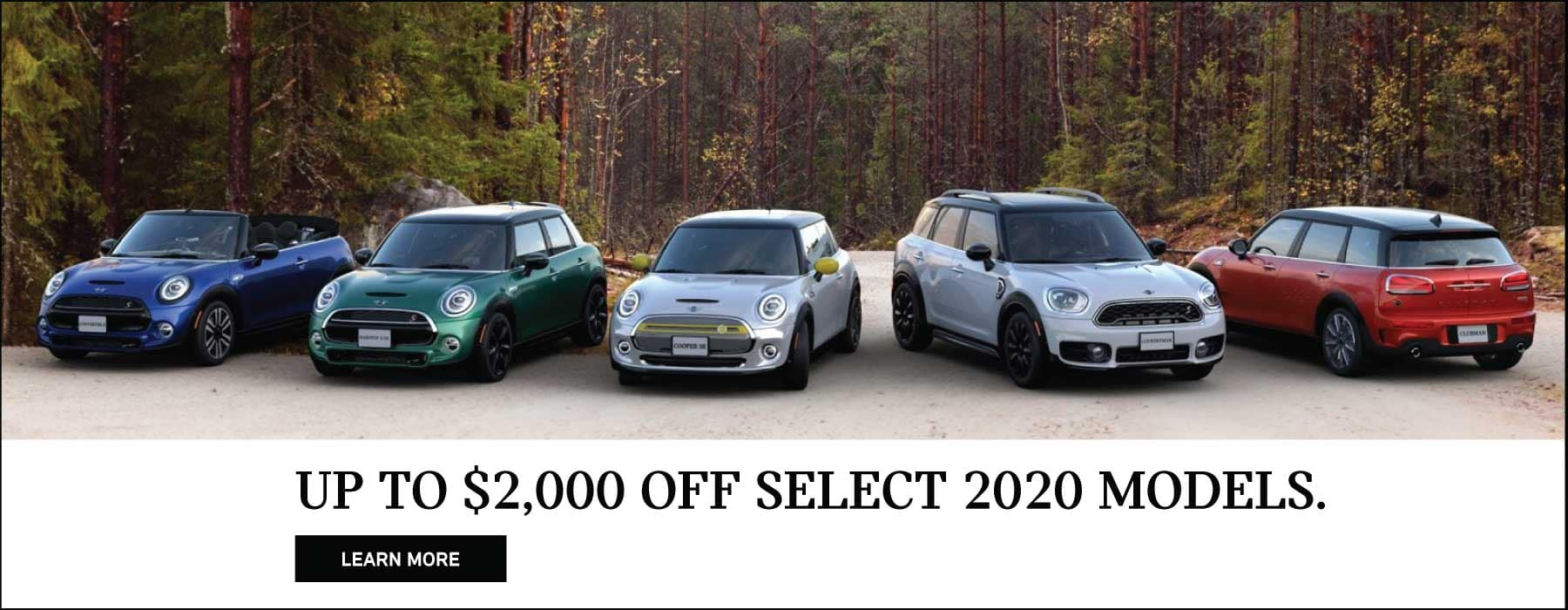 Up to $2,000 off select MINI models