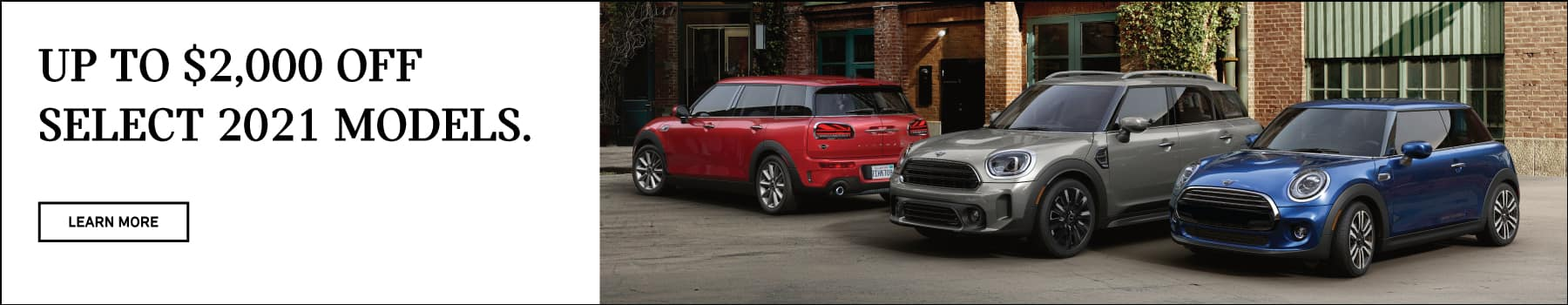 Up to $2000 off select MINI models.