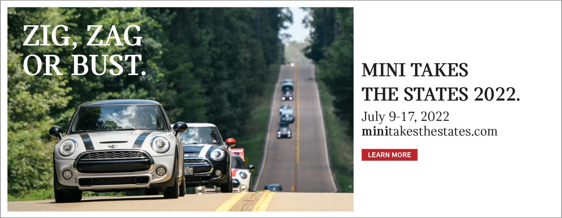 MINI Takes The States 2022. July 9-17th.
