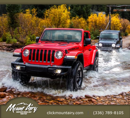 Mount Airy Jeep Rubicon Red