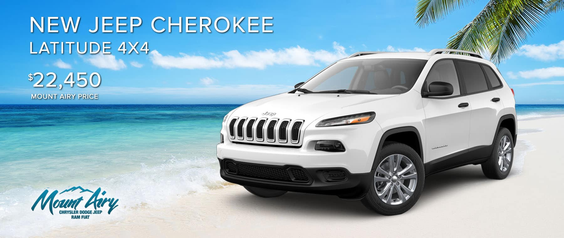 White New Jeep Cherokee on sale