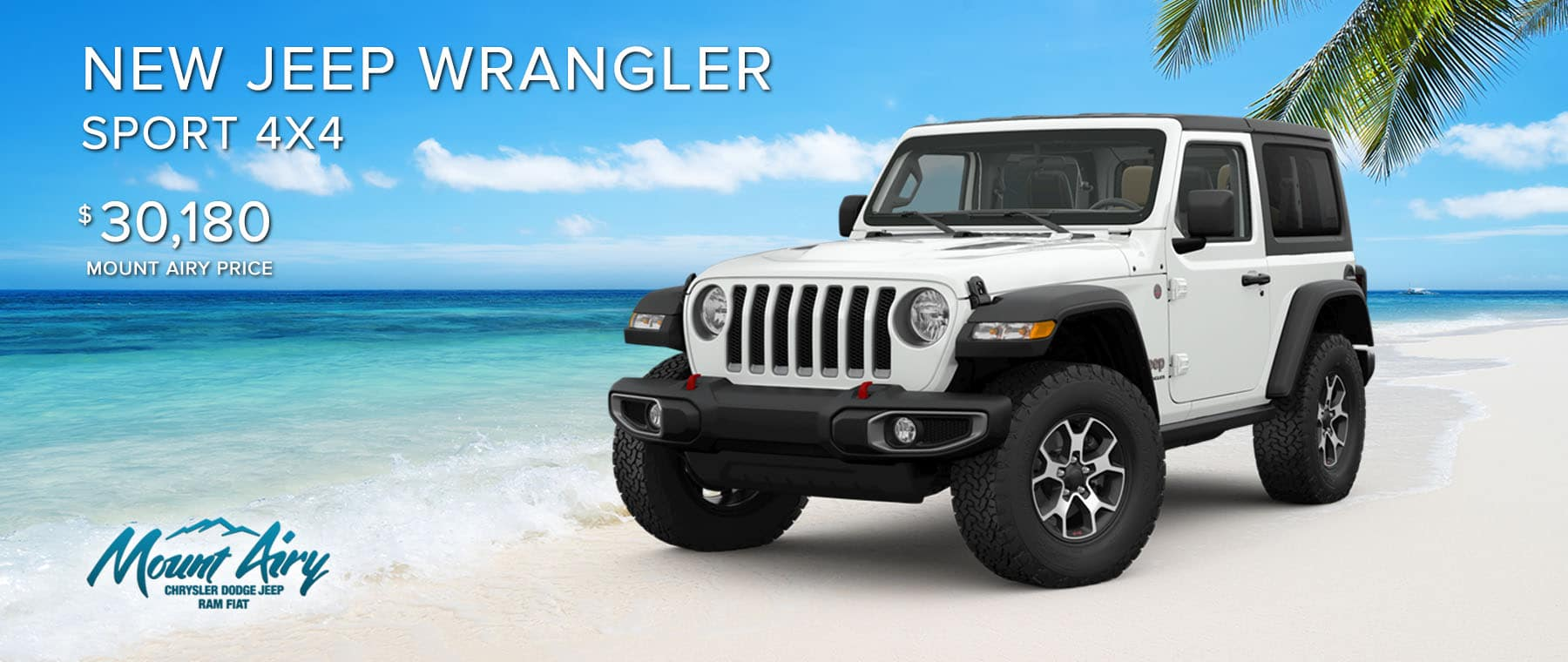 White New Jeep Wrangler on sale