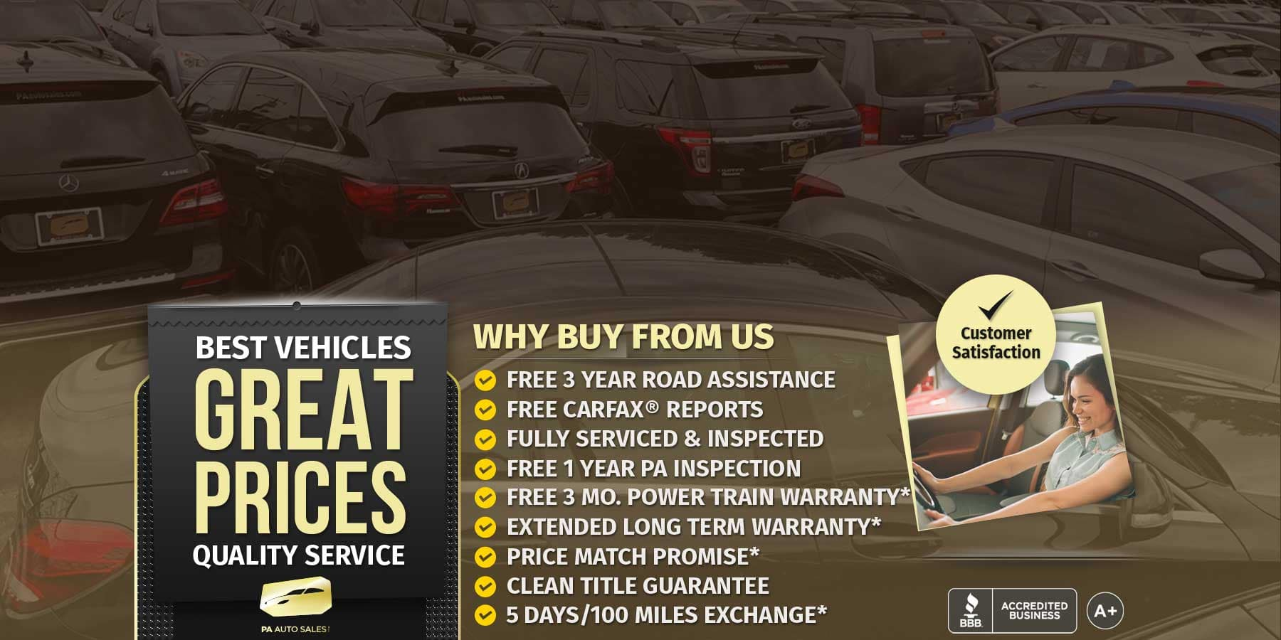 Why Buy From Us - PA Auto Sales