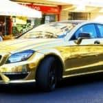 Gold Mercedes-Benz CLS-Class