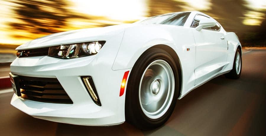 White Chevrolet Camaro