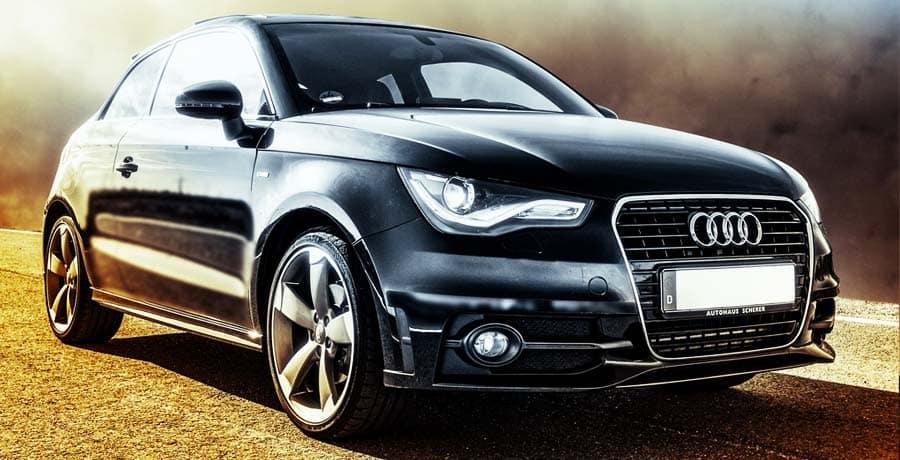 Black Audi sport coupe