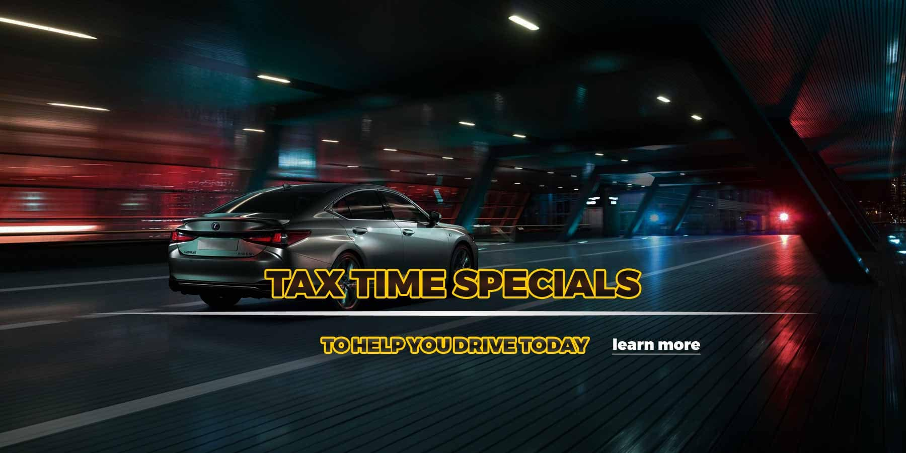 Used Car Specials - Tax Season Promotion