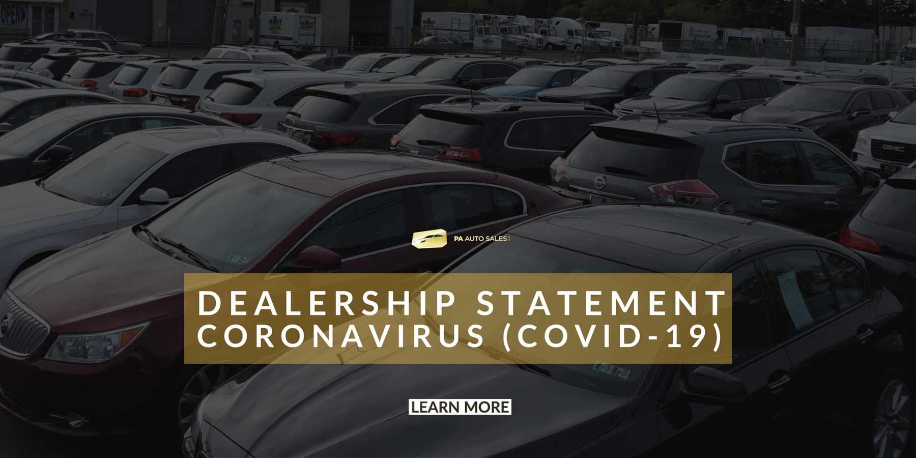 DEALERSHIP STATEMENT Coronavirus (COVID-19)