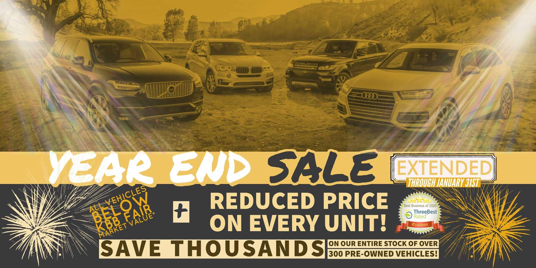 Year-End Used Sales Event Extended Through January 31st