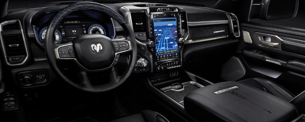 Black Ram 1500 interior