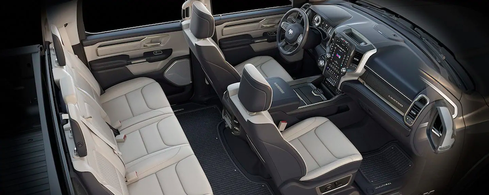 Ram 1500 interior and seats from above