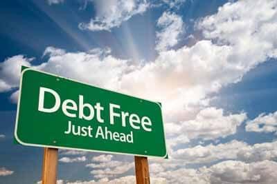 Debt Free Sign