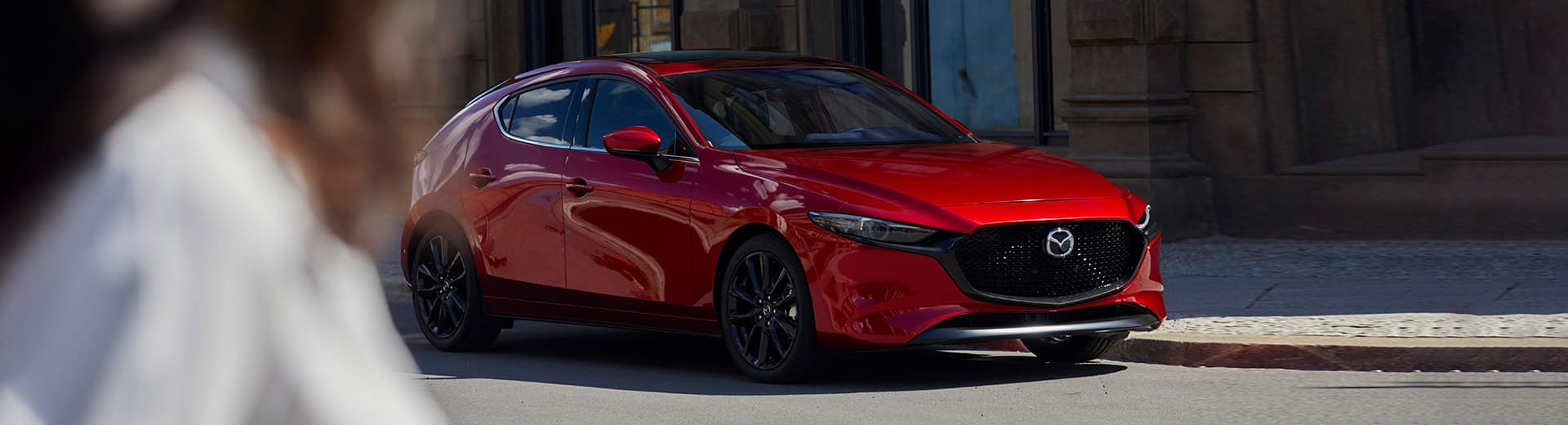 Front shot of the 2019 Mazda3 Sport in London Ontario.