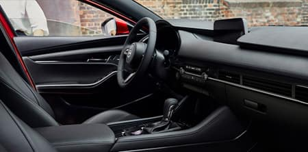 The 2019 Mazda3 interior, available at Forest City Mazda