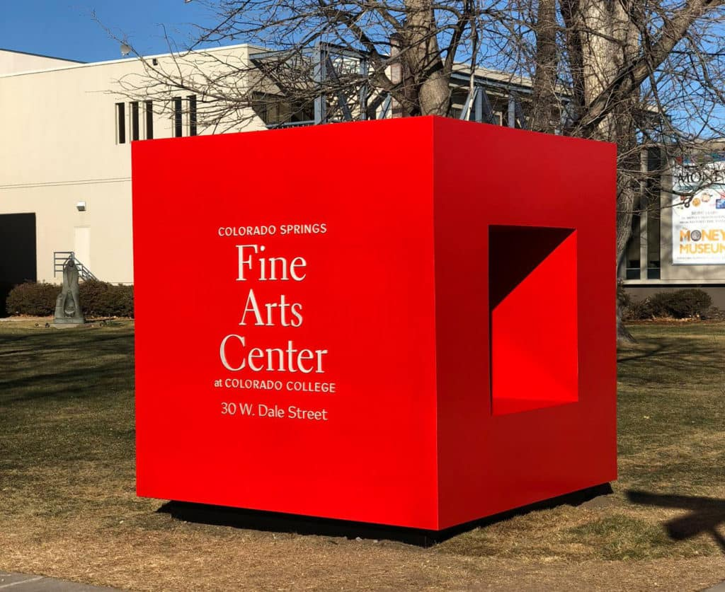Red Noland Collision Center Paints Display for Colorado Springs Fine Arts Center