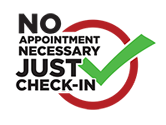 check-in no appointment necessary