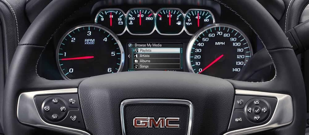 2018 GMC Sierra 1500 driver display