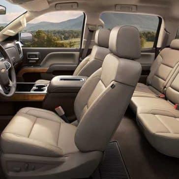 2018 Chevy Silverado 1500 leather seats
