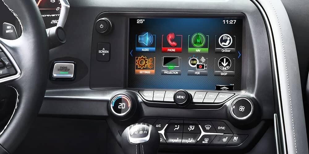 2018 Chevrolet Corvette Stingray touchscreen