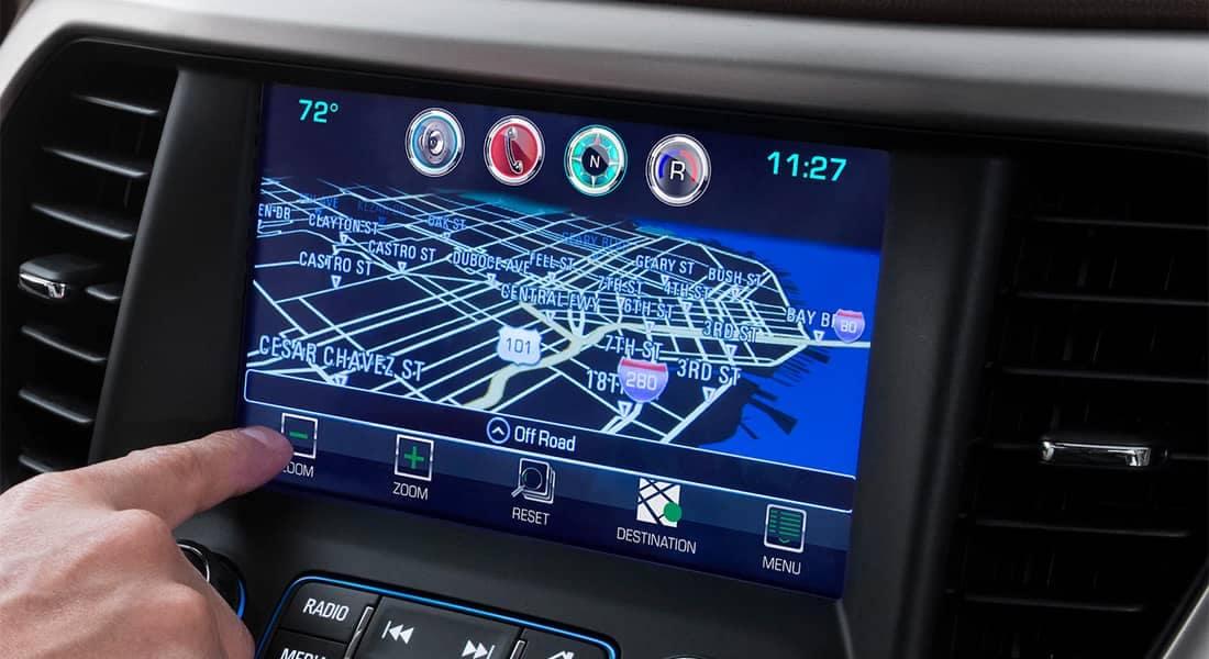 2018 GMC Acadia navigation