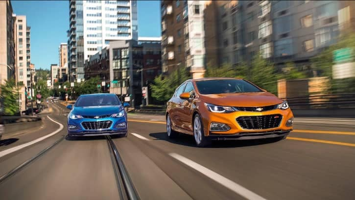 2018 Chevy Cruze on street