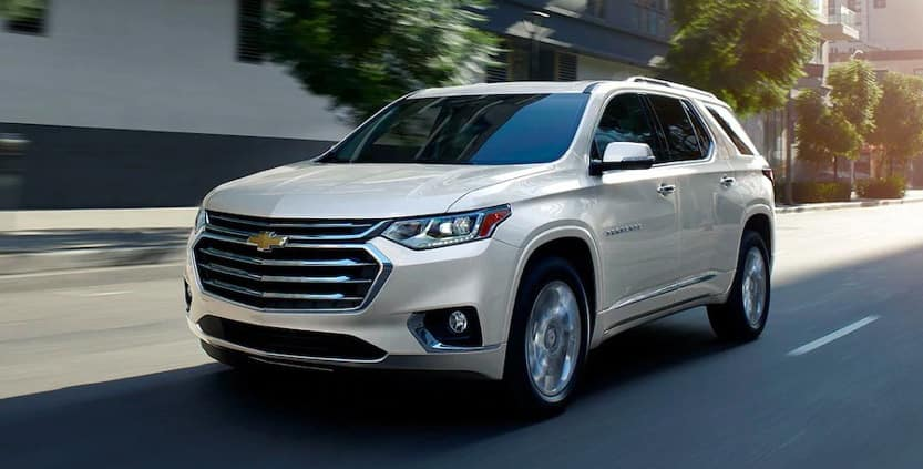 2019 Chevrolet Traverse driving on street