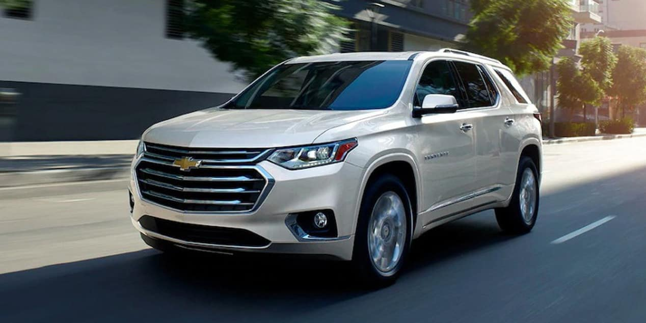 2019 Chevrolet Traverse going down street