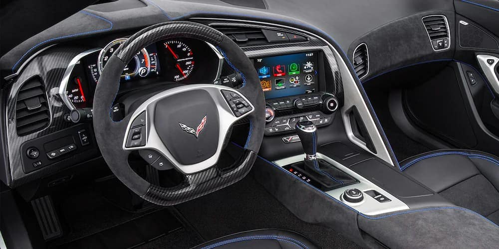 2019 Chevy Corvette Stingray Black Interior with Full Technological Features
