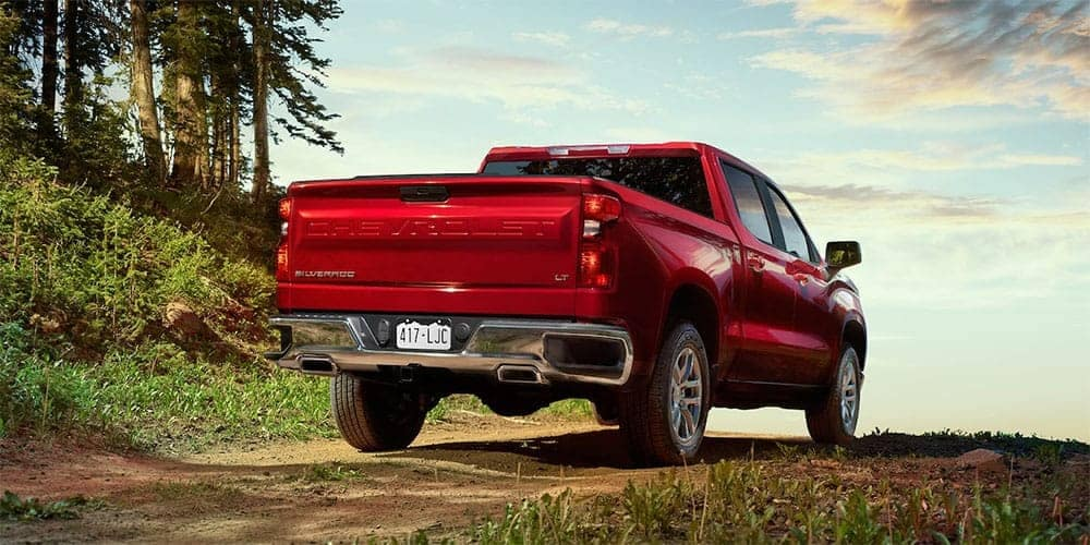 2019 Chevrolet Silverado 1500 Exterior from back in red