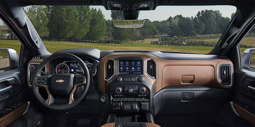 2019 Chevrolet Silverado 1500 driver cockpit area