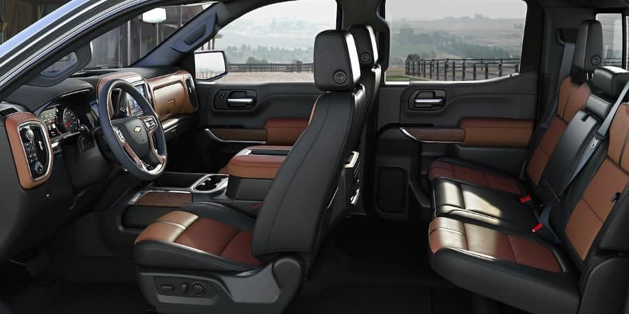 interior cabin of 2019 Chevrolet Silverado 1500