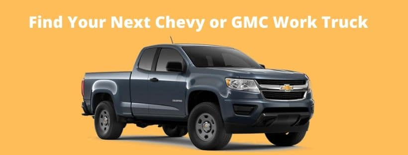 Find Your Next GMC or Chevy Work Truck