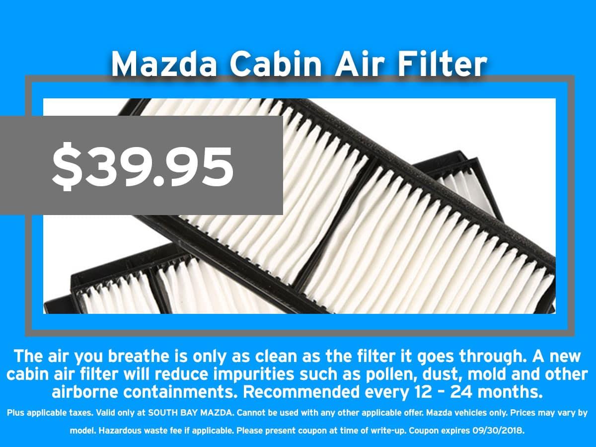 Mazda Cabin Air Filter Coupon
