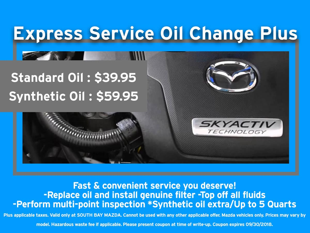 Mazda Oil Change Coupon Discount Special
