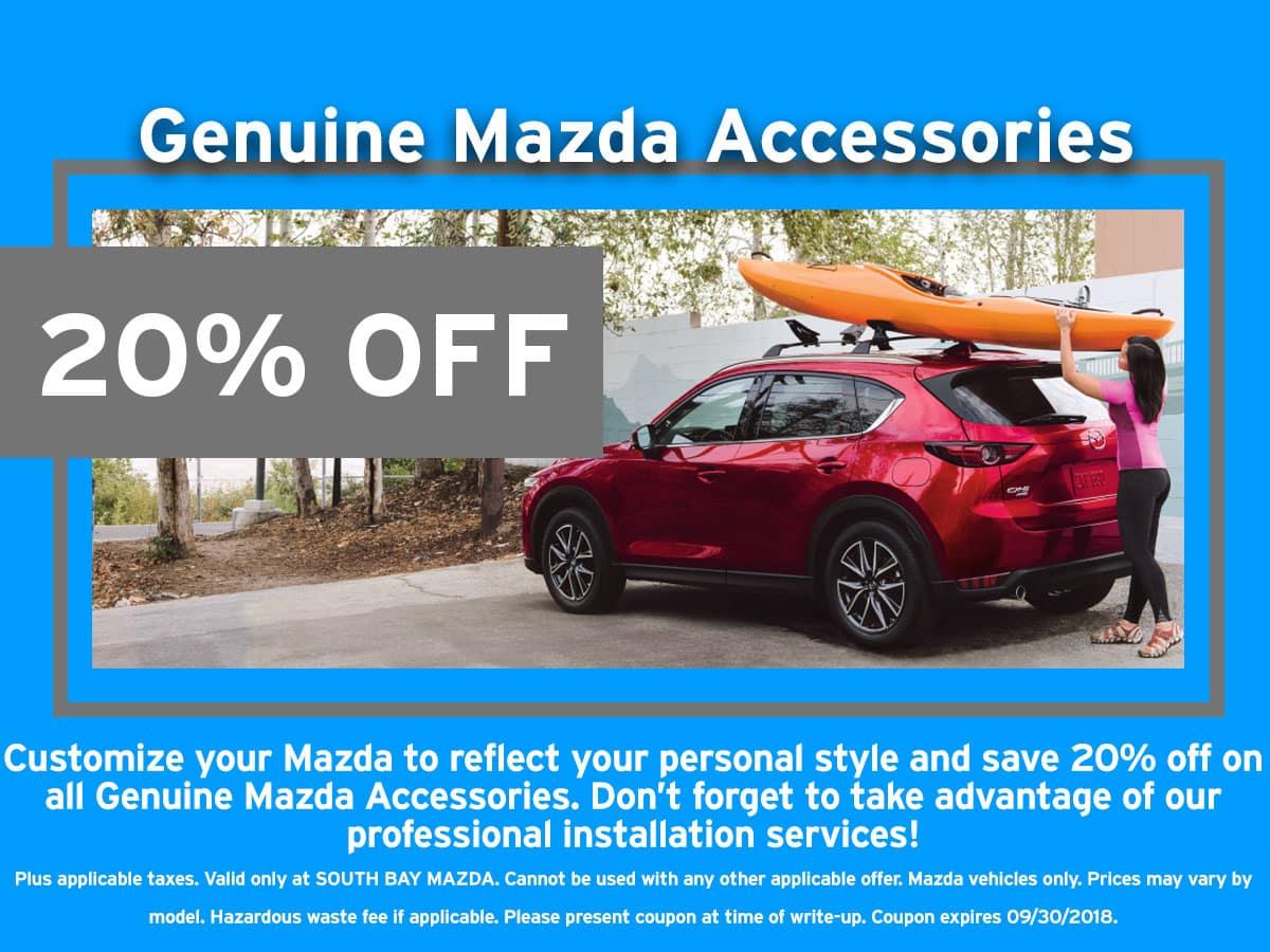 Mazda Accessories Discount Coupon