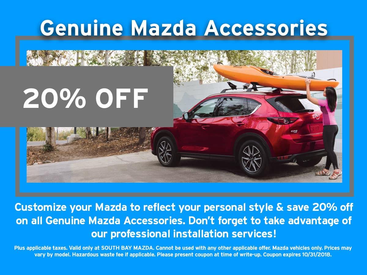 Mazda Accessories Dicscount Special Coupon