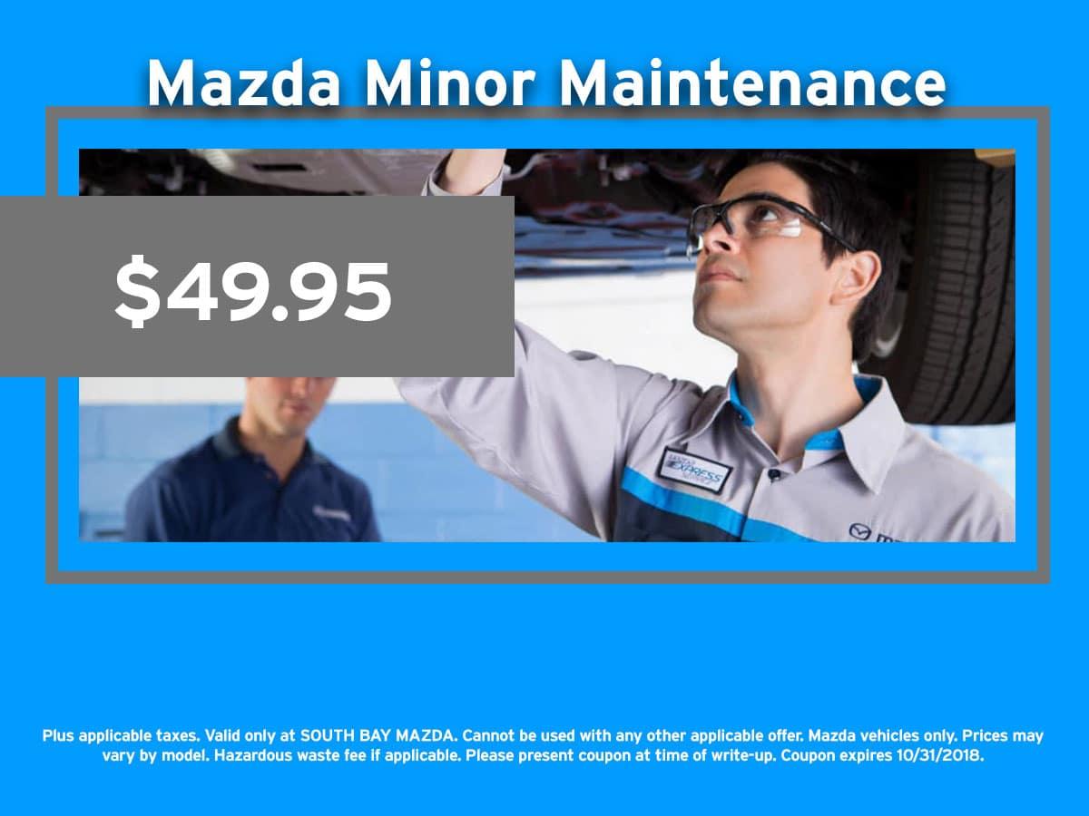 Mazda Minor Maintenance Coupon