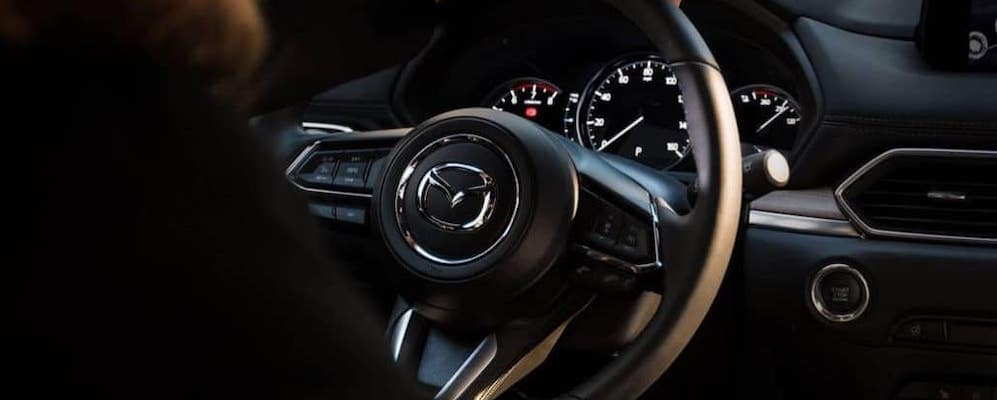 2019 mazda cx-5 interior view of dashboard and steering wheel