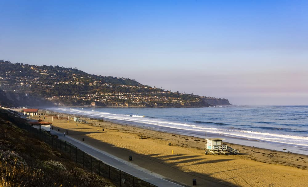 beach in beautiful morning light at Redondo beach, California, Los Angeles