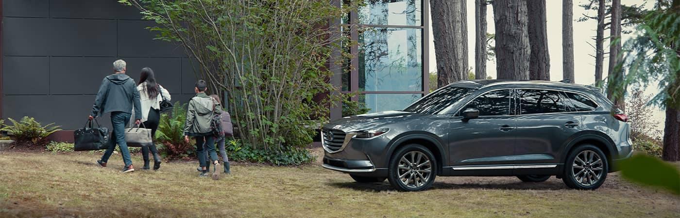 2020 Mazda CX-9 Parked Outside Beautiful Modern Home