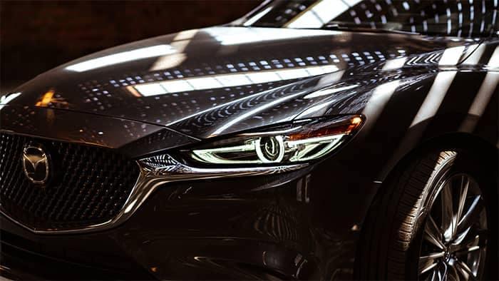 Closeup of Mazda6 headlight