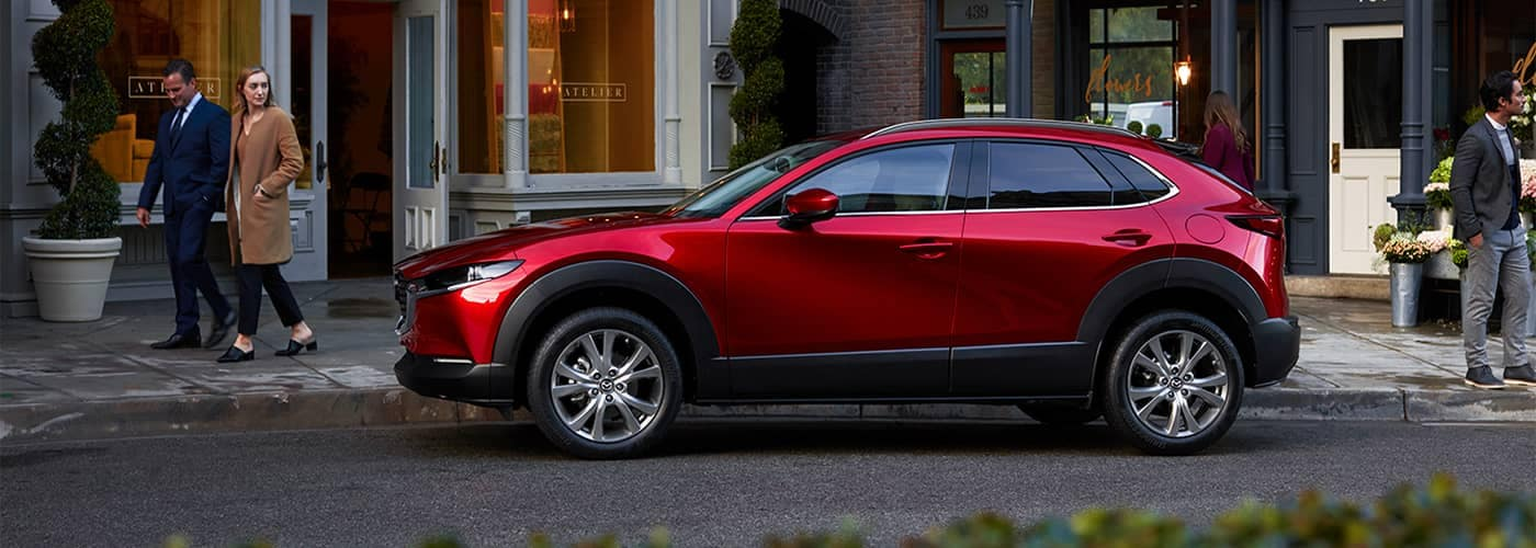Mazda CX-30 Parked by Store fronts