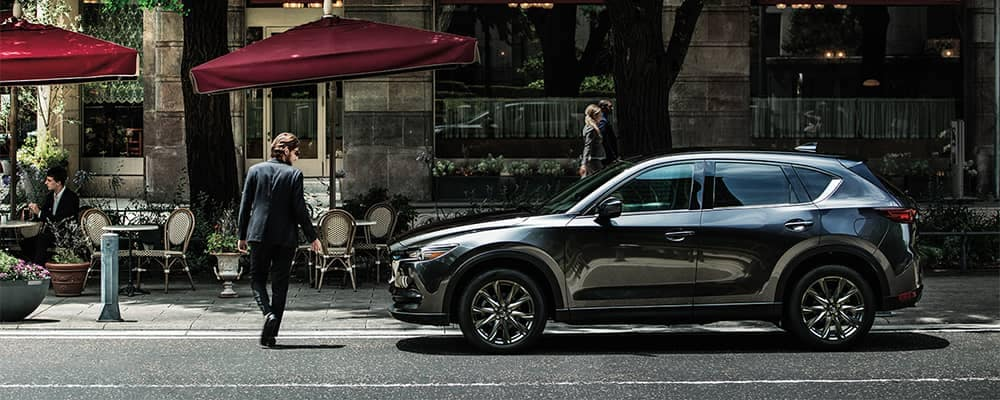 Man walking by 2020 Mazda CX-5