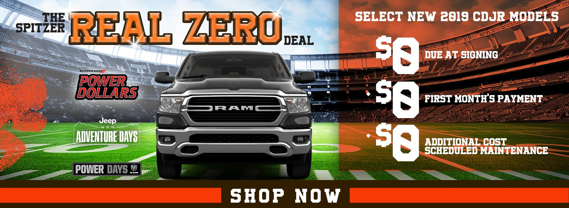 Real Zero Deal | $0 due at signing, $0 first month's payment, $0 cost scheduled maintenance
