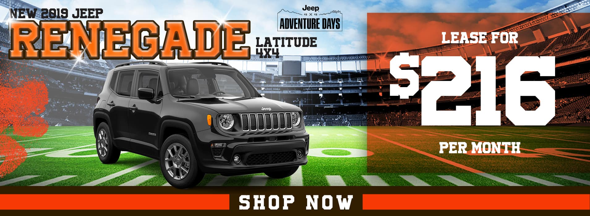 2019 Jeep Renegade Latitude 4x4 Lease for $216 Per Month