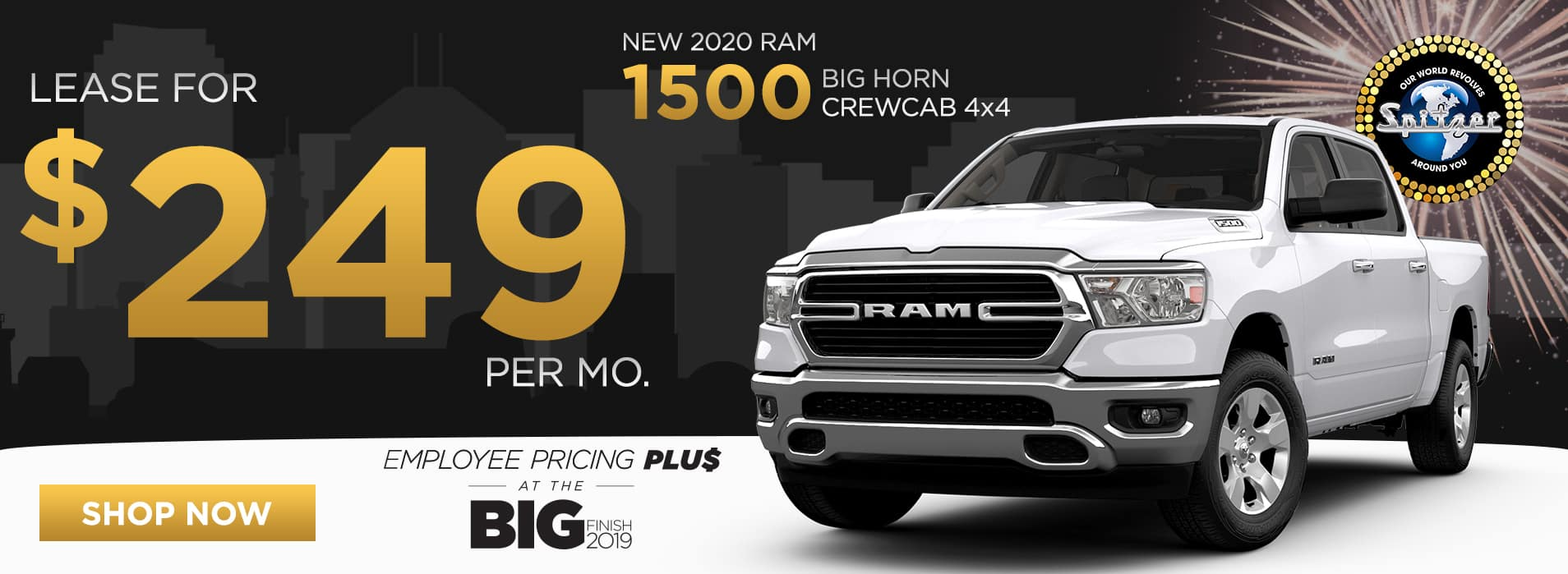 RAM 1500   Lease for $249 per mo