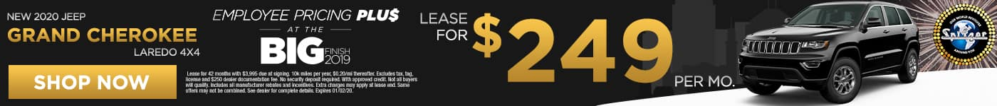 Grand Cherokee   Lease for $249 per mo