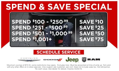 april 2019 spend and save special