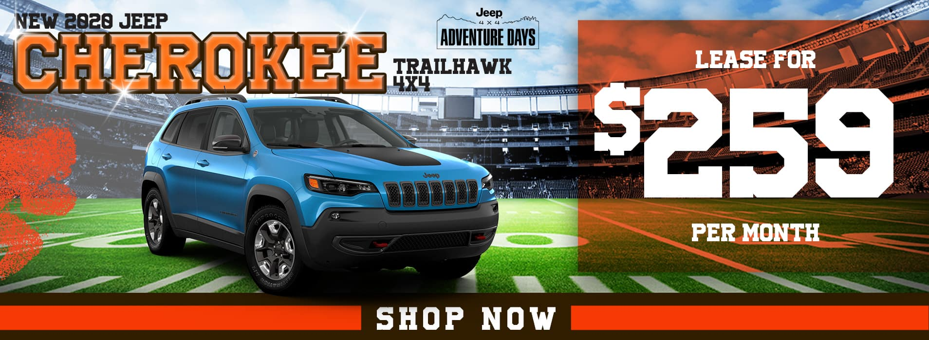2020 Jeep Cherokee Trailhawk 4x4 | Lease for $259 Per Month