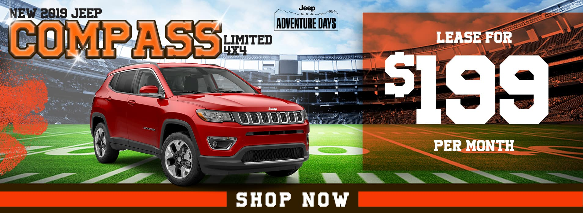 New 2019 Jeep Compass Limited 4x4 Lease for $199 Pe Month